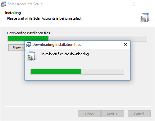Screenshot of Installation Program